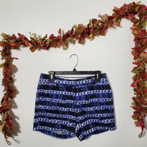 J. Crew Blue & White Tie Dye Linen Cotton Shorts 2